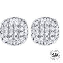 World Shine Earring 8 mm Premium 925 Sterling Silver White Gold Finish Simulated Diamond Icy Round Earrings