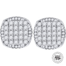 World Shine Earring 9 mm Premium 925 Sterling Silver White Gold Finish Simulated Diamond Icy Round Earrings