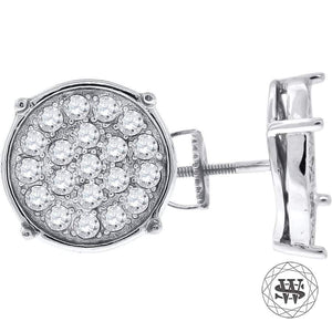 World Shine Earring 9 mm Premium 925 Sterling Silver White Gold Finish Simulated Diamond Round Prong Earrings 9/10/12/15 mm