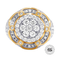 World Shine Ring 8 Premium 925 Sterling Silver Yellow Gold Finish Diamond Ring
