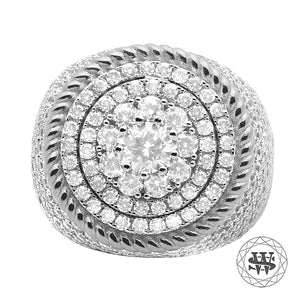 World Shine Ring 9 Premium 925 Sterling Silver White Gold Diamond Ring