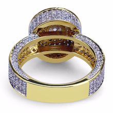 World Shine Ring Iced Out Central Gold / Diamond Ring