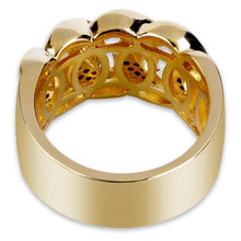 World Shine Ring Iced Out Cuban Ring Gold / Diamond