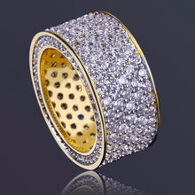 World Shine Ring Iced Out Round Gold / Diamond Ring