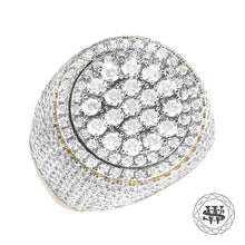 World Shine Ring Premium 925 Sterling Silver Yellow Gold Diamond Ring