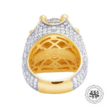 World Shine Ring Premium 925 Sterling Silver Yellow Gold Finish Diamond Ring