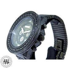 World Shine Watch Premium Black Simulated Diamond Watch 55mm