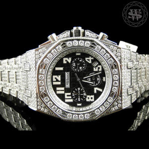 World Shine Watch Premium Simulated Diamond Watch White Gold Limited 42mm