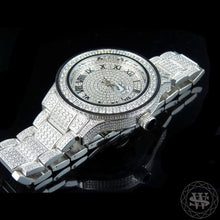 World Shine Watch Premium White Gold Steel Simulated Diamond Watch 45mm