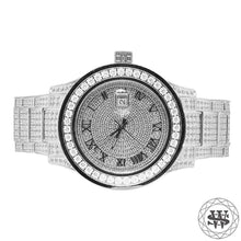 World Shine Watch White Gold Premium White Gold Steel Simulated Diamond Watch 45mm
