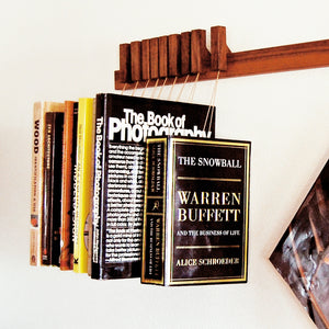 BOOK RACK IN WALNUT