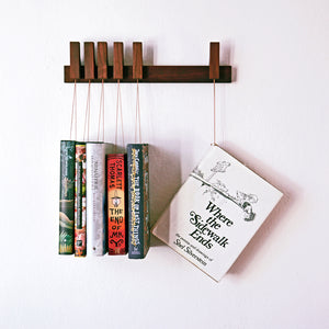 MINI BOOK RACK IN WALNUT