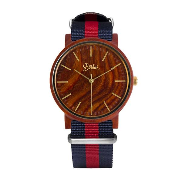 Wooden Watch Red