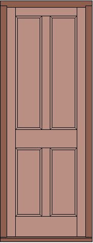 Door with 4 Flat Panels