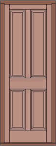 Raise and Fielded 4 Panel door