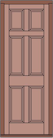Raise and Fielded 6 Panel Door