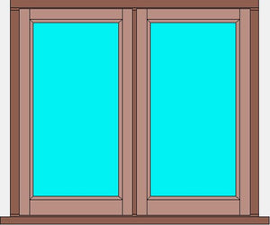 Stormproof Window Double Casement