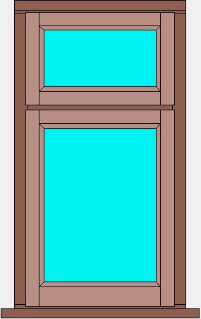 Stormproof Window Single Casement with Fanlight