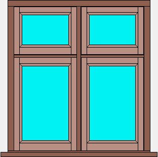 Traditional Flush Window Double Casement With Fanlights