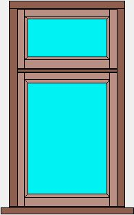 Traditional Flush Window Single Casement with Fanlight