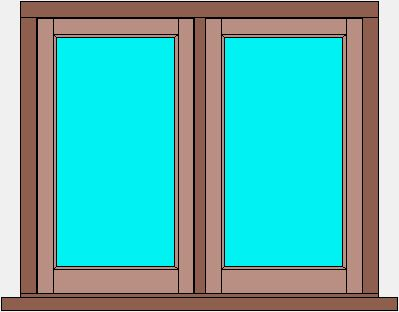 Traditional Flush Window Double Casement