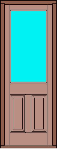 Glazed door with raise and fielded panels (Various glazing options available)