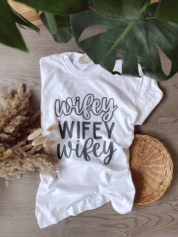 Wifey Tee -- Comfort Colors