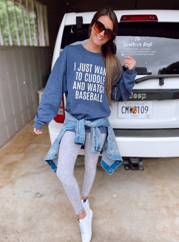 Cuddle and Watch Baseball Sweatshirt