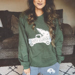 Truck Merry Christmas Sweatshirt