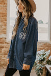 Monogram Denim Button Down