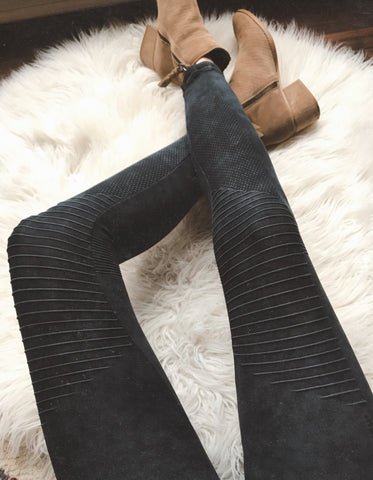 Moto Leggings - Vintage Black - RESTOCK