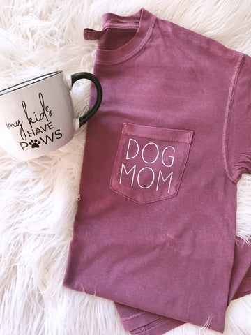 Dog Mom Pocket Tee