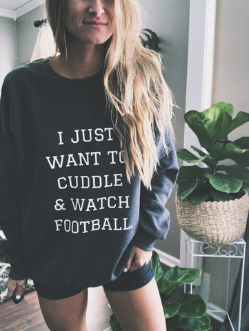 Cuddle & Watch Football Sweatshirt