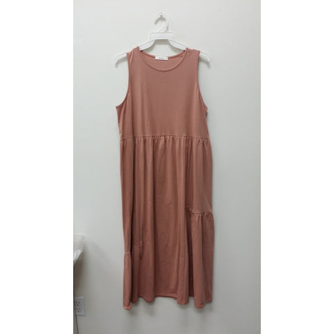 Cotton Basic Tank Dress - Rosewood