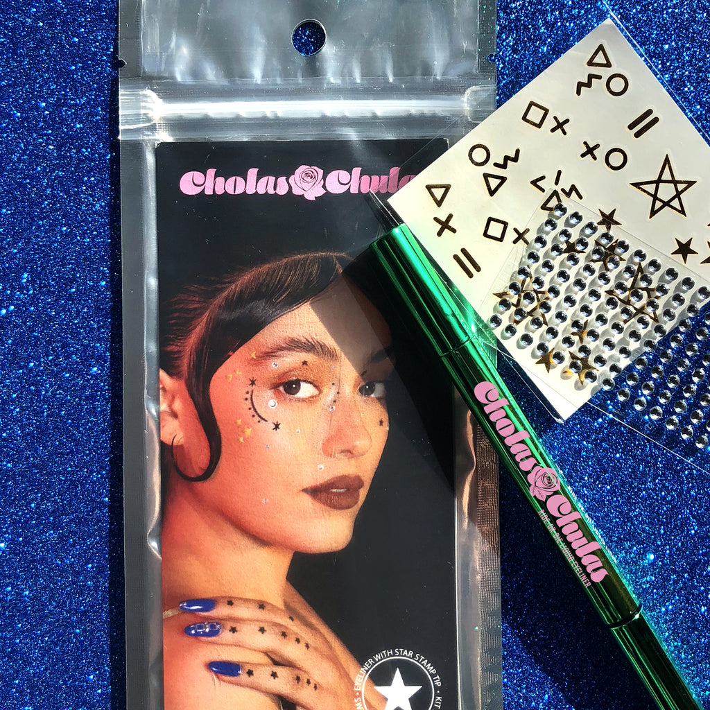 Ride-Or-Die Eyeliner Kit with Rhinestones and Tattoos