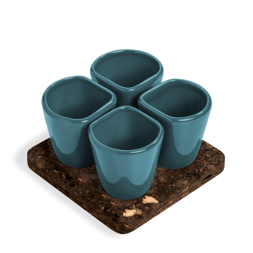 2 Sets of 4 Cups Blue COPUS 1.0-Homeware-HOUSE of BOTTA