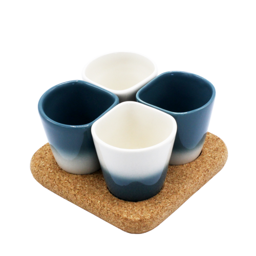 2 Sets of 4 Cups Blue COPUS 3.0-Homeware-HOUSE of BOTTA