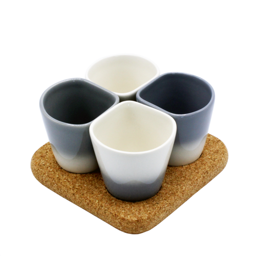 2 Sets of 4 Cups Grey COPUS 3.0-Homeware-HOUSE of BOTTA