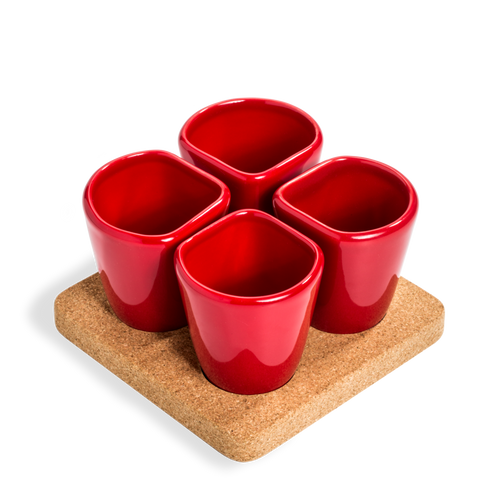 2 Sets of 4 Cups Red COPUS 1.0-Homeware-HOUSE of BOTTA