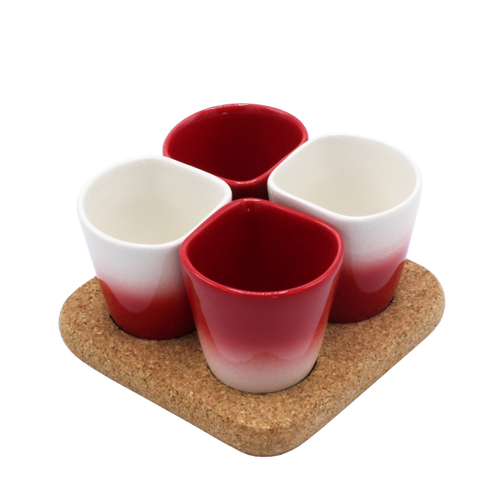 2 Sets of 4 Cups Red COPUS 3.0-Homeware-HOUSE of BOTTA