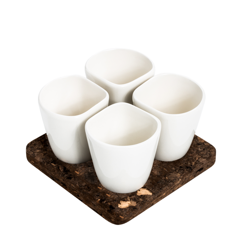 2 Sets of 4 Cups White COPUS 1.0-Homeware-HOUSE of BOTTA