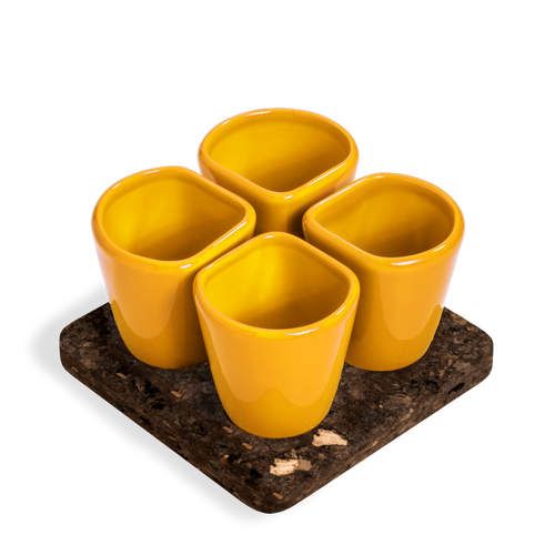 2 Sets of 4 Cups Yellow COPUS 1.0-Homeware-HOUSE of BOTTA