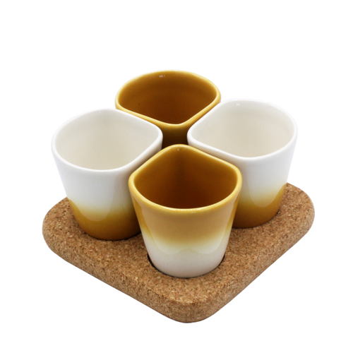 2 Sets of 4 Cups Yellow COPUS 3.0-Homeware-HOUSE of BOTTA
