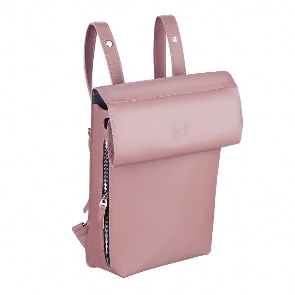 Ampm Pink Leather Rolltop Backpack-AMPM-HOUSE of BOTTA