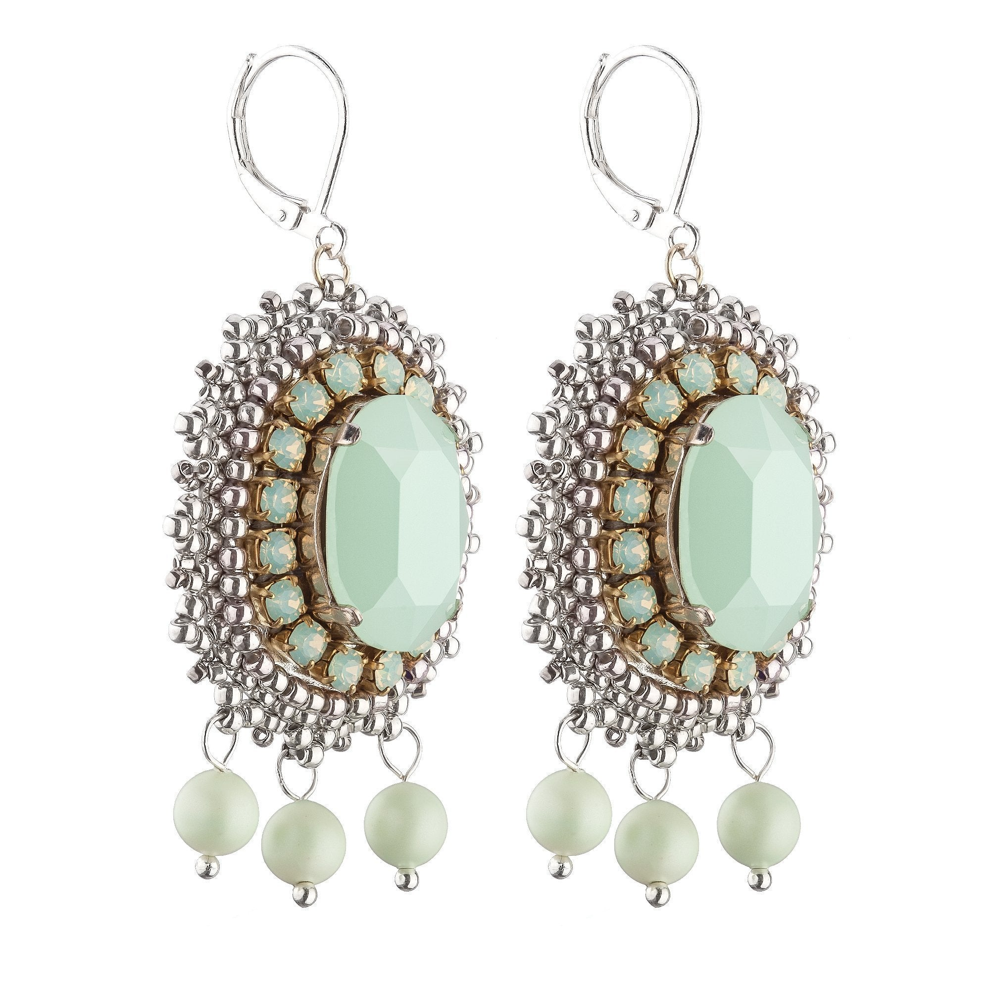 Anais Green Earrings-ANAIS-HOUSE of BOTTA