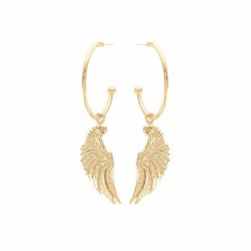 Angel Wing Hoop Earrings 18K Gold Vermeil-Seven Saints-HOUSE of BOTTA