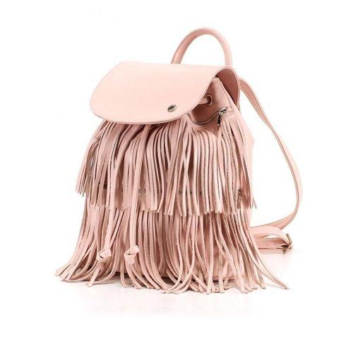 Backpack Dots In Pink With Removable Fringe-OZERIANKO-HOUSE of BOTTA