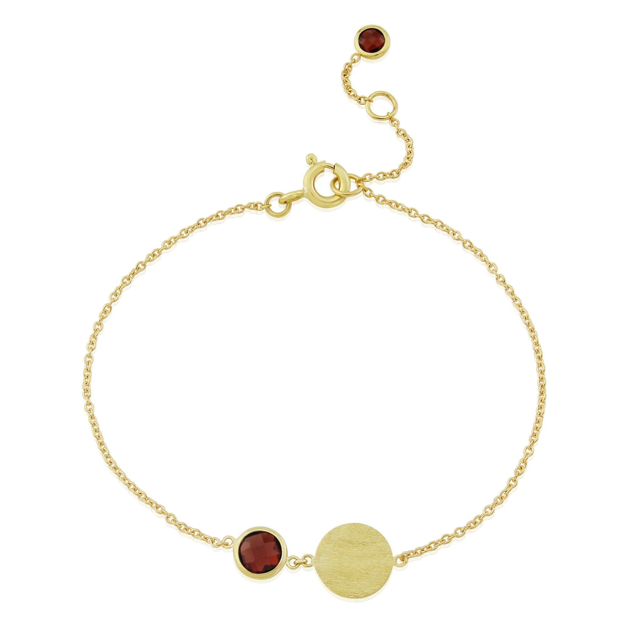 Bali January Birthstone Bracelet Garnet-AUREE JEWELLERY-HOUSE of BOTTA
