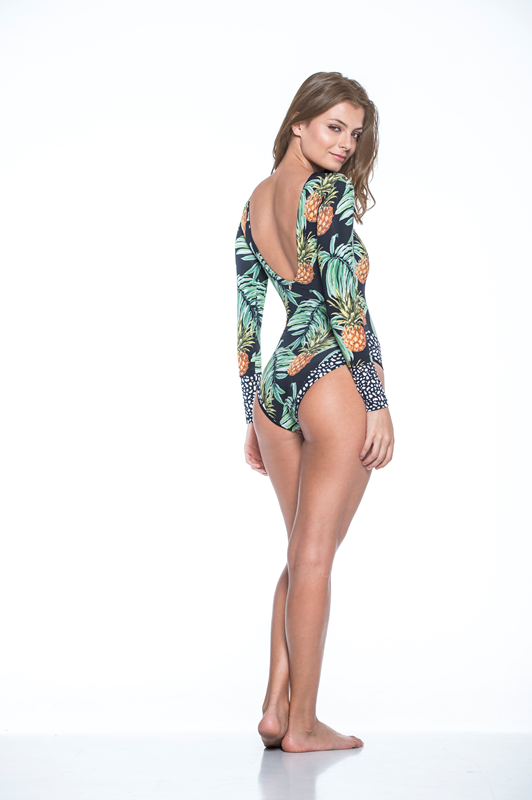 Bass Pineapple - Long Sleeve One Piece-Malai-HOUSE of BOTTA