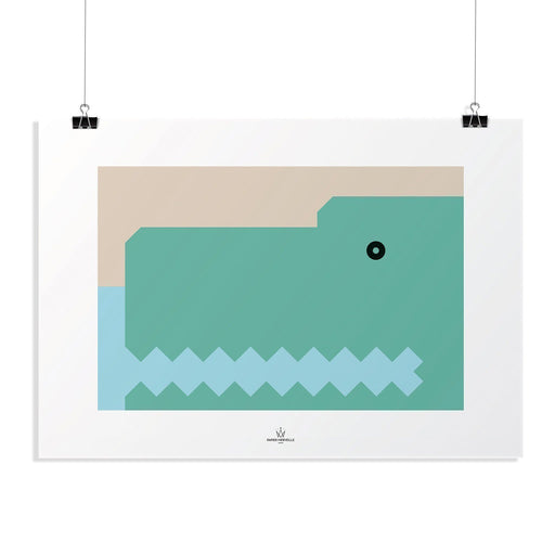 BB Crocodile Poster-Homeware-HOUSE of BOTTA